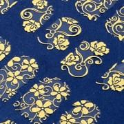 108, uma folha de arte 3d flor dourada prego adesivos decalques decorações hot stamping