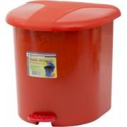 Cos gunoi cu pedala 15 litri rosu