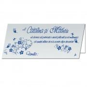 Plicuri bani nunta, culoare bleu