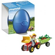Playmobil Boy Children's with Tractor Egg
