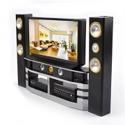 Combo de Gabinete Mini Hi-Fi TV Home Theater para Barbie Doll House Muebles Accesorios Juguetes