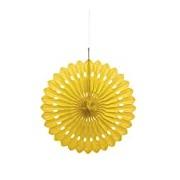 40cm Yellow Tissue Paper Fan Decoration