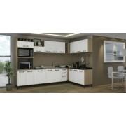 Cozinha Modulada Kappesberg Sense 12 peças Nature com Branco e Azulejo