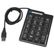 Keyset Manhattan 176354, ultra subtire, USB (Negru)