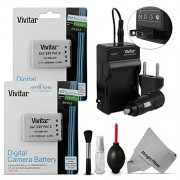 (2 Pack) EN-EL5 Battery and Charger Kit for NIKON Coolpix P530, P520, P510, P100, P500, P5100, P5000, P6000, P90, P80 Cameras - Includes: 2 Vivitar Ultra High Capacity Rechargeable 1200mAh Li-ion Batteries + AC/DC Vivitar Rapid Travel Charger + Cleaning K