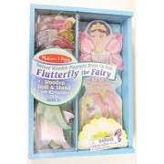 Melissa & Doug Deluxe Wooden Magnetic Dress-Up Doll - Flutterfly the Fairy
