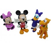 V SHINE Mickey and Friend Clubhouse Mini Figure Play Set of 4