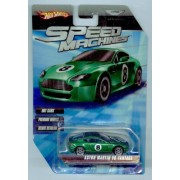 Hot Wheels Speed Machines Aston Martin V8 Vantage Green 1:64 Scale