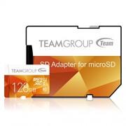 Team Group Micro SD 2 GB scheda di memoria con Adattatore SD Giallo giallo 128 GB Class 10 UHS-I Colour