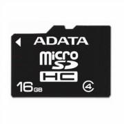SECURE DIGITAL CARD MICRO 16GB (Class 4) ADATA 'AUSDH16GCL4-R'