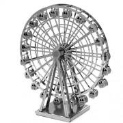 Mini DIY 3D del corte del laser de la construcción Metal Metálico Modelo Kit Nano rompecabezas educativos Montaje de juguete de bricolaje (Ferris Wheel)