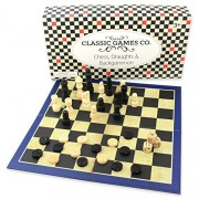 Classic Games Co. Chess, Draughts & Backgammon Board Game Set