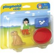 Playmobil 1.2.3 Mädchen mit Hund (6796)