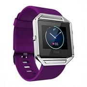 Vermelho / Preta / Branco / Verde / Azul / Roxa Silicone Soft Silicone Pulseira Esportiva Para Fitbit Assistir 23 milímetros