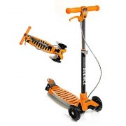High Bounce Max Glider Deluxe Folding Scooter with T-bar Adjustable Handle and Hand Brake (Orange)