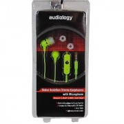 AUDIOLOGY AU-EPM20-GR In-Ear Stereo Earphones with Microphone for MP3 Players iPods and iPhones (Green)