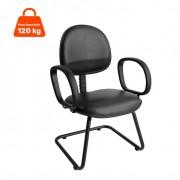 Cadeira de Escritório Fixa Preta
