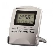 Ceas vorbitor de masă, cu voce în limba engleză, calendar, alarmă, cronometru și temporizator