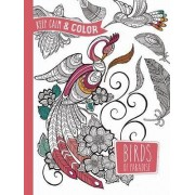 Keep Calm and Color - Birds of Paradise Coloring Book by Marica Zottino