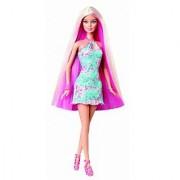 Barbie Hairtastic Blue Dress Long Blonde Hair Doll