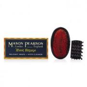 Mason Pearson Boar Bristle - Large Extra Military Pure Bistle Large Size Hair Bush (Dark Ruby) - Hair Care
