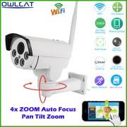 HI3516C+SONY IMX323 HD 1080P 960P Network Wireless 4X Auto Zoom Outdoor Bullet Waterproof PTZ WIFI IP Camera IR Onvif SD Card