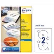 > Etichetta adesiva L7676 bianca CD/DVD 100fg A4