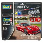 Revell Model Set 2014 Corvette Stingray Maquette A Construire. A Coller Et A Peindre. Avec Accessoires