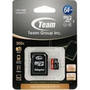 Card de Memorie Team Group microSDXC 64GB Clasa 10 + Adaptor SD