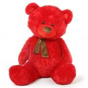 Red 5 Feet Big Teddy Bear with muffler