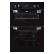 Belling BI90MF Black Double Built In Electric Oven