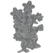 Die-Namites Flower Scroll Die 3.375 by 3.5625-Inch
