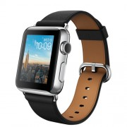 APPLE 38MM STAINLESS STEEL CASE WITH BLACK CLASSIC BUCKLE