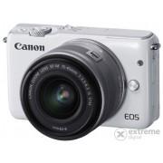Kit aparat foto Canon EOS M10 (cu obiectiv de 15-45mm), alb