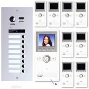 Anykam ES8+ DT16 Video Türsprechanlage Videosprechanlage 8-Familienhaus 2Draht