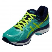 asics Gel-Cumulus 17 Laufschuh Women aqua mint/flash yellow/navy 37,5 Running Schuhe