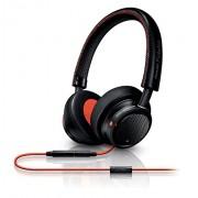 Philips M1MKII Fidelio Headphones with Microphone - Black/Orange