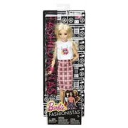 Papusa Barbie Fashionista Doll In Rock N Roll Plaid