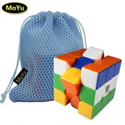 MoYu AOLONG V2 3x3 Enhanced Edition 3 Layers Magic Cube Professional Speed Puzzle Cube Brain Teasers Game Stickerless With a Cube Bag MOYU Aolong V2 3x3 Enhanced Edition 3 capas cubo mágico Puzzle Cubo rompecabezas juego profesional de velocidad con un cu