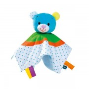 Doudou Ours Tmimi Plat Bleu Vert Orange Pois Bleus Ourson Téo Peluche Naissance Sidj Bébé Comforter Plush Teddy Bear