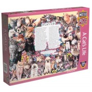 Cat's Life 550 Piece Puzzle by American Puzzles