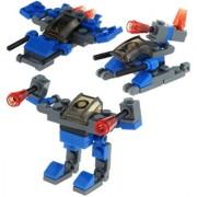 Magideal 3 In 1 Building Blocks Diy Assembly Fight Dragon God Blocks Educational Toys