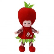 Cute Plush Toy Music Singing Doll Baby Musical Soft Stuffed Dolls Apple