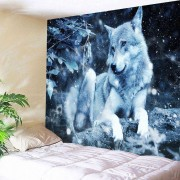 rosegal Wolf Animal Throw Tapestry Wall Art Decoration