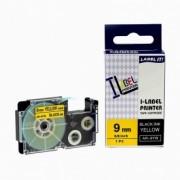 Casio XR-9YW1, 9mm x 8m černý tisk / žlutý podklad