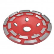 vidaXL Diamantový brusný kotouč - dvouřadý 125 mm