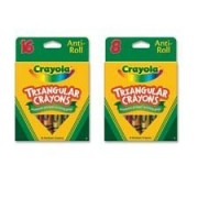 Crayola LLC Products - Triangular Anti-roll Crayons, Nontoxic, 16/BX, Assorted - Sold as 1 BX - Crayola Triangular Anti-roll Crayons are ideal for student art projects. Triangular design prevents the crayons from rolling off desks and makes it easy for st