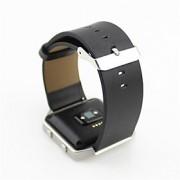Preta / Azul / Marrom / Cinzento Couro Fecho Clássico / Pulseira de Couro Para Fitbit Assistir 23 milímetros