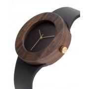 Analog Watch Leather & Blackwood / No Hour Markings Watch L