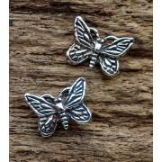 oorknopjes/oorstekers vlinder zilver 02
